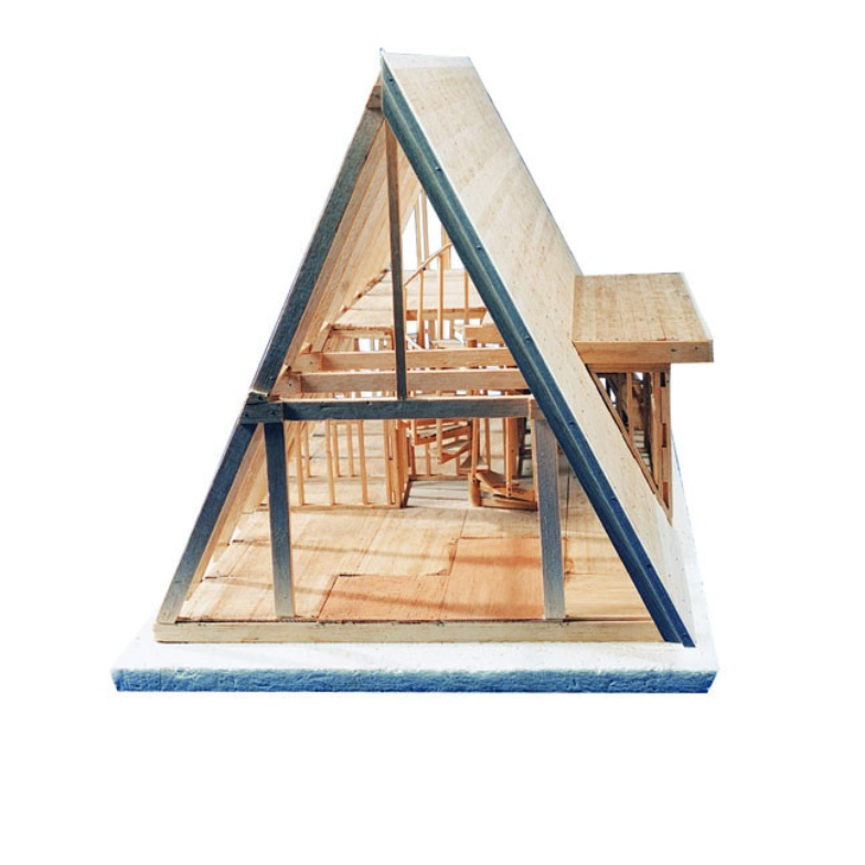 A frame cabin kit balsatron inc for A frame building kits