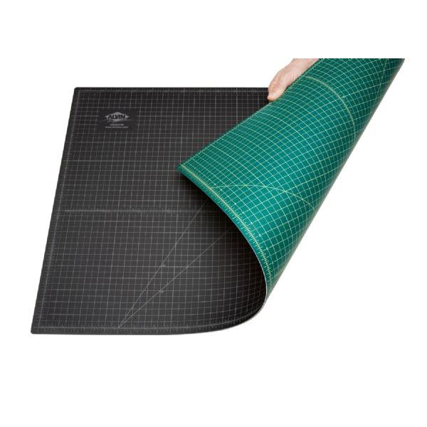"Alvin® GBM Series 18"" x 24"" Green/Black Professional Self-Healing Cutting Mat"