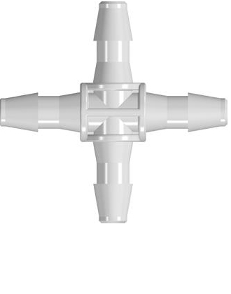 4-Way Connector Tube Fitting