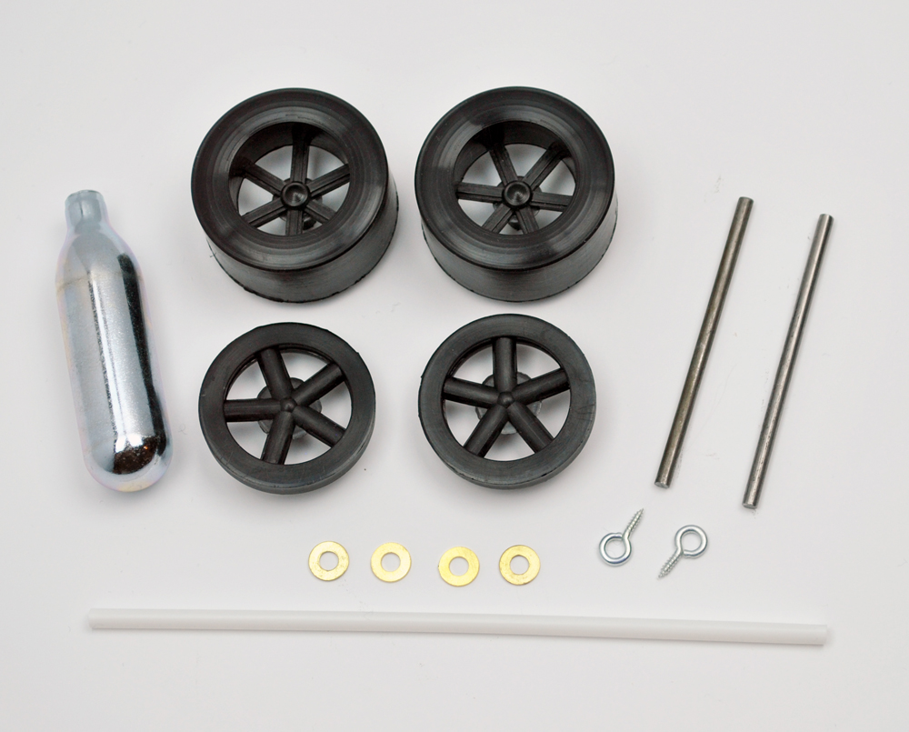CO2 Powered Dragster Parts Kit
