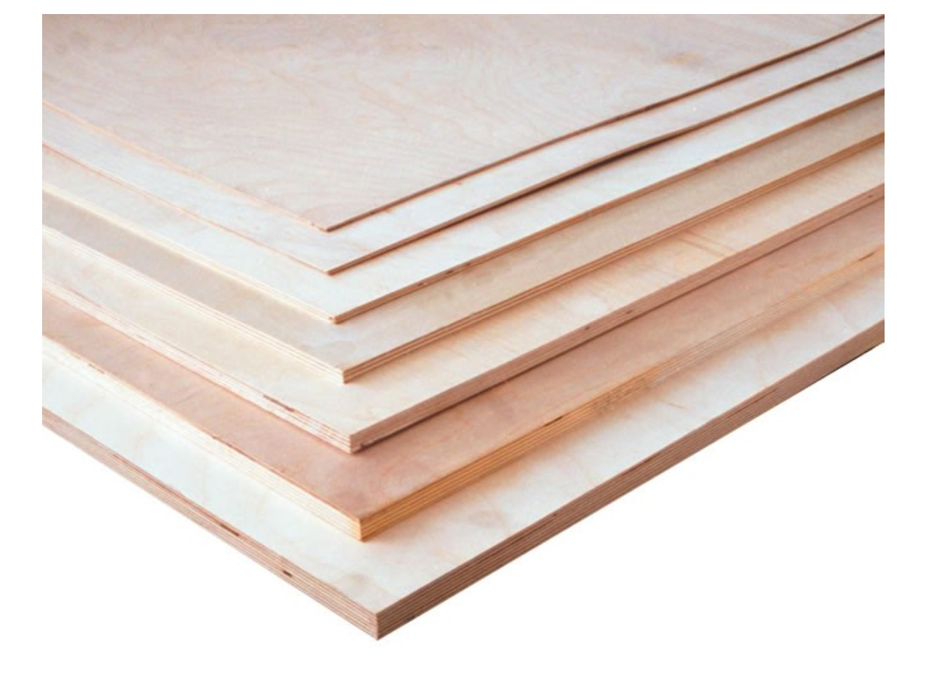 "1/8"" x 6"" x 12"" 3-Ply Birch Plywood"