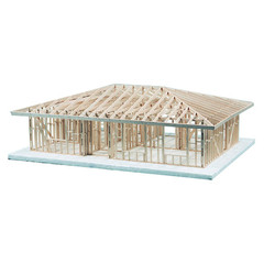 Single Story, 2 Bedroom Hip Roof Kit